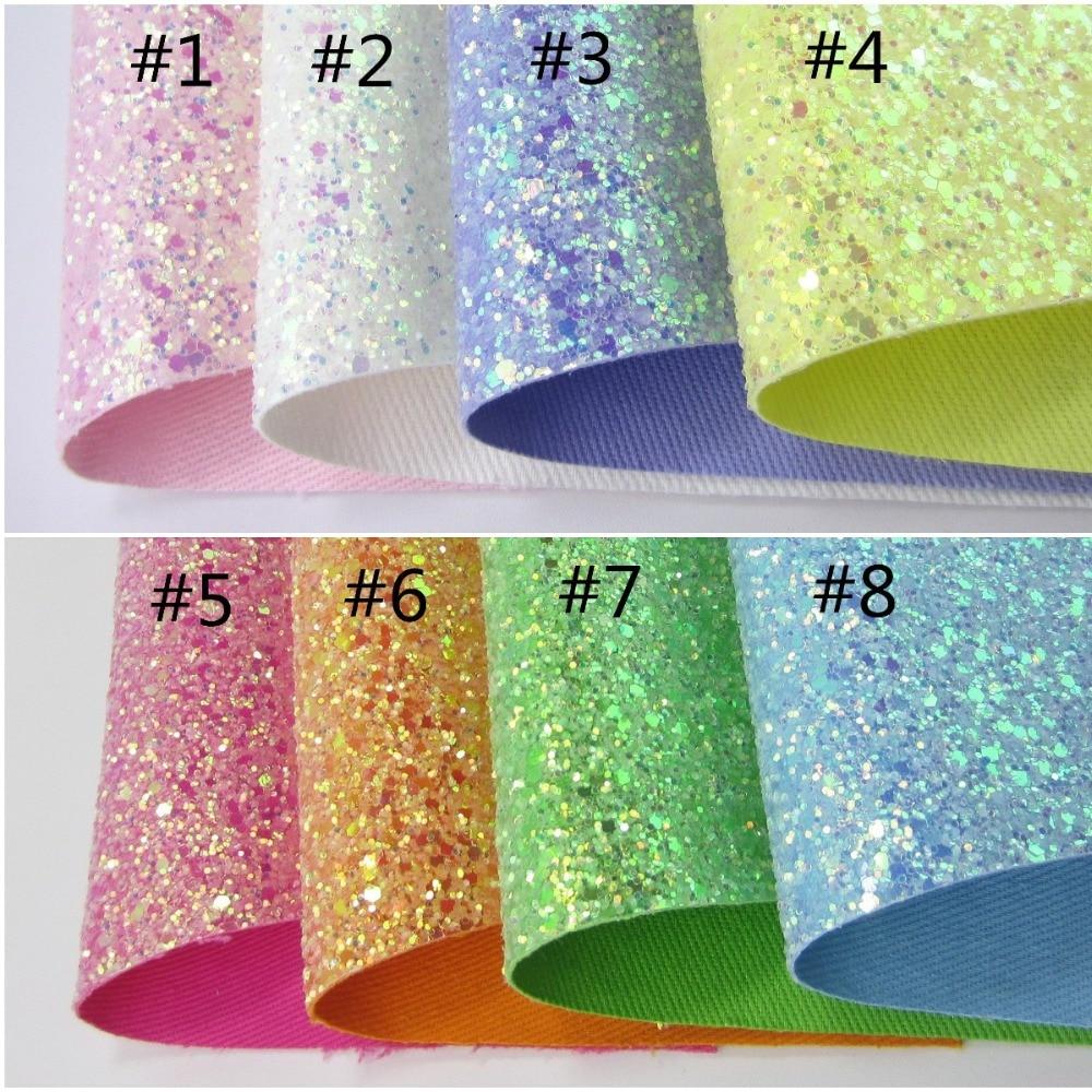 30cmx134cm Chunky Glitter Fabric Green Pink Yellow Leather Fabric Fashion Shiny Glitter Fabric For Shoes DIY Fabric AY270