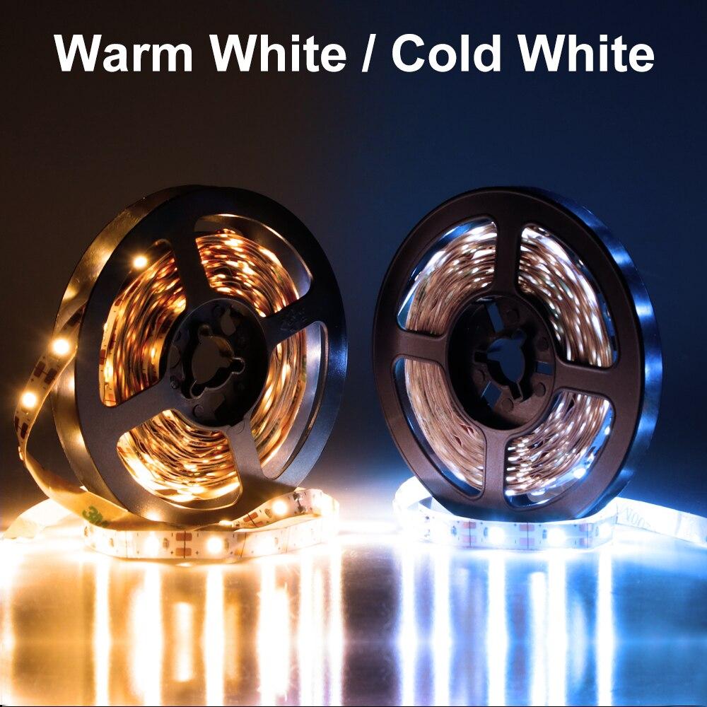 USB Cable Power LED Strip Light 5V Night Lights Desk Decor Lamp Tape Led Tira 50CM 1M 2M 3M 4M 5M Closet TV Background Lighting in LED Strips from Lights Lighting