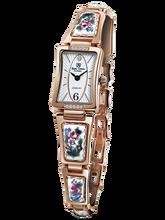 9f594a4dd9e Royal Crown joyería reloj 6431 Italia marca diamante Japón MIYOTA oro rosa  esmalte lujo mujeres reloj