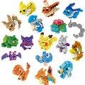 Poket Monstro Brinquedos Figuras de Ação Modelo Mewtwochild Pikachu Bulbasaur Squirtle Pokemon Eevee Criança presente 9 + Anime Blocos de Construção