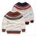 Nueva Llegada Suéter Chico Jersey Niños Prendas de Punto de Calidad Superior de Los Bebés de Diseño de Moda Suéter de Lana de Invierno Ropa de Los Niños