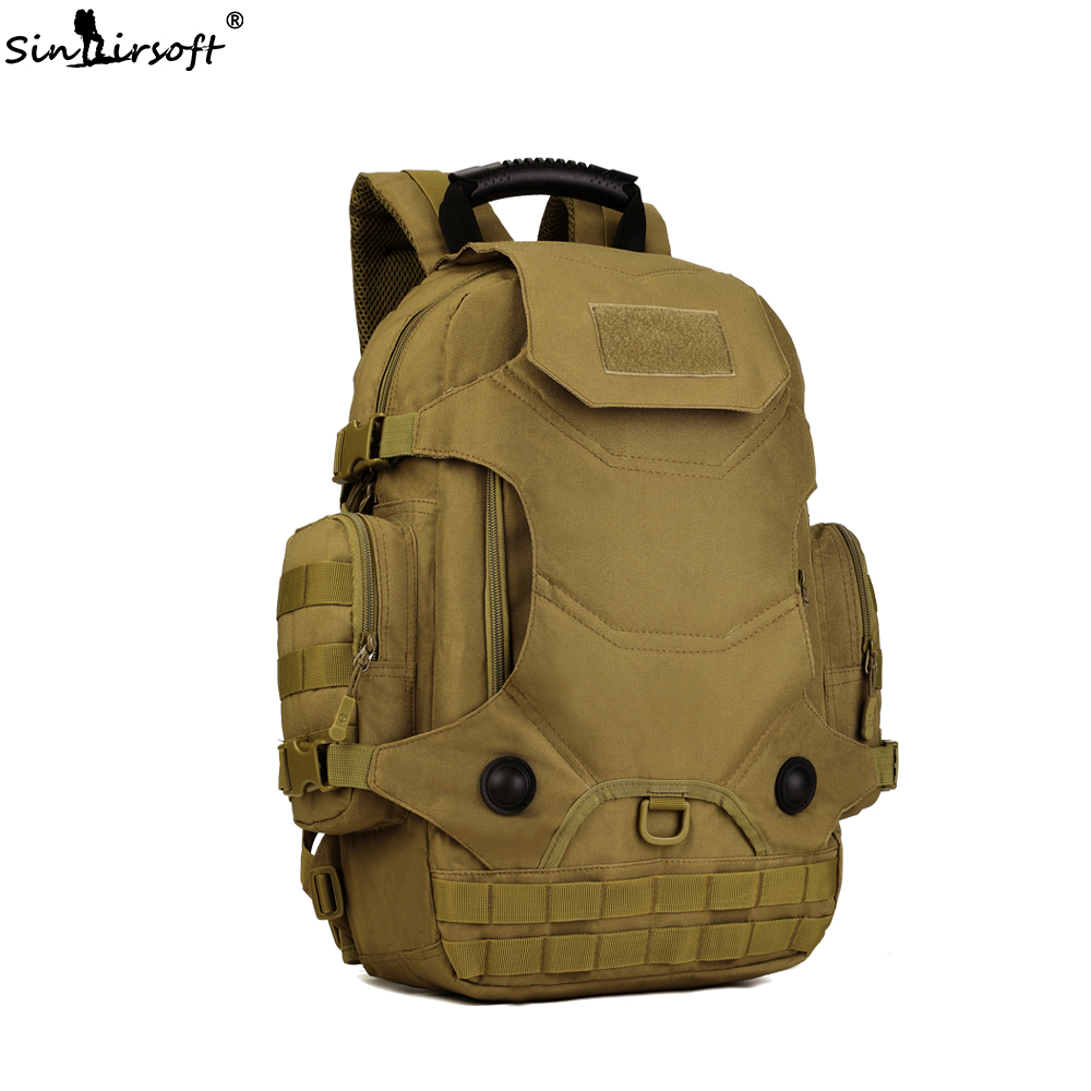 SINAIRSOFT Tactical Military Backpack 40L Men Army Waterproof Outdoor Travel Camping Bags Large Capacity Shoulder backpacks 40l large capacity tactical oxford men s 3d attack assault backpacks high quality military army style camouflage travel bag