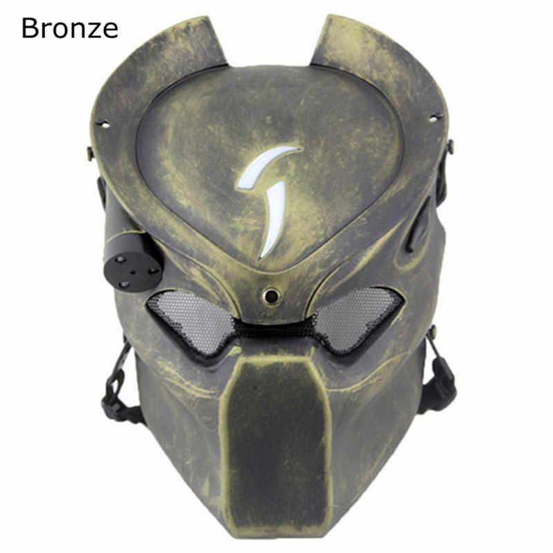 Alien vs. Шлем хищника маска с светильник на Хэллоуин маскарадные костюмы для косплея CS военная игра реквизит Открытый тактический страйкбол маски