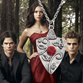 The Vampire Diaries Garnet Necklace Bonnie Bennet Family Amulet Necklace Statement Necklace