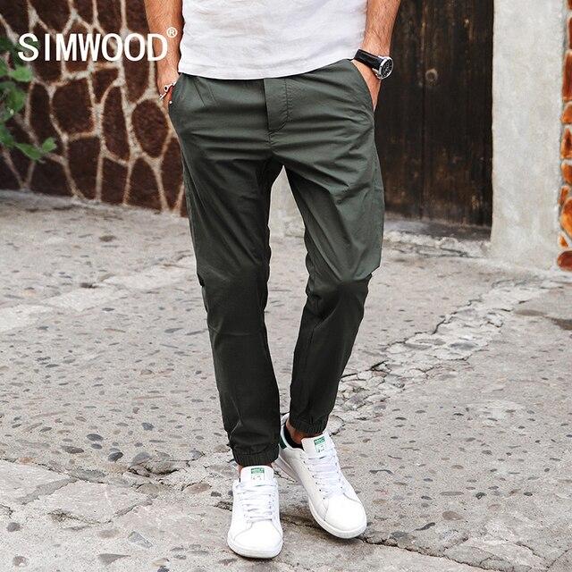 SIMWOOD Новое Прибытие 2017 Весна Лето Случайные Брюки Моды Брюки длина Slim Fit KX5547