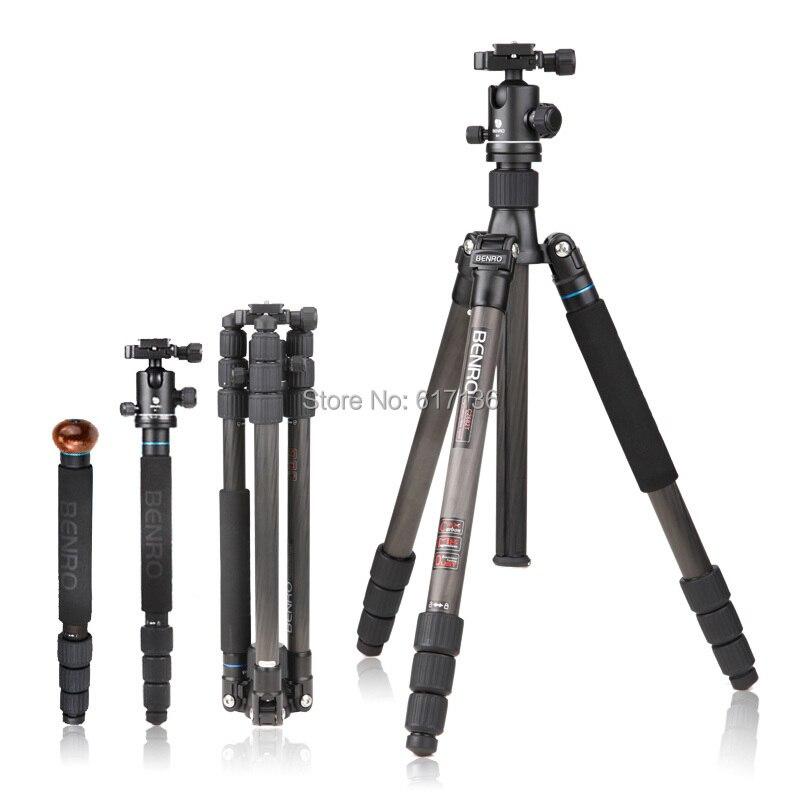 Benro C2682TB1 ขาตั้งกล้องคาร์บอนไฟเบอร์ขาตั้งกล้อง Monopod สำหรับกล้อง B1 หัวกระเป๋าถือโหลดสูงสุด 12 กก.DHL จัดส่งฟรี-ใน ขาตั้งกล้องถ่ายทอดสด จาก อุปกรณ์อิเล็กทรอนิกส์ บน AliExpress - 11.11_สิบเอ็ด สิบเอ็ดวันคนโสด 2