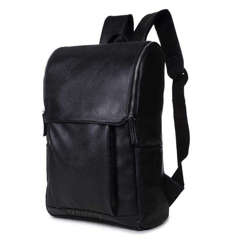 Travel Backpack Fashion-Style Men's PU Mochila Zip