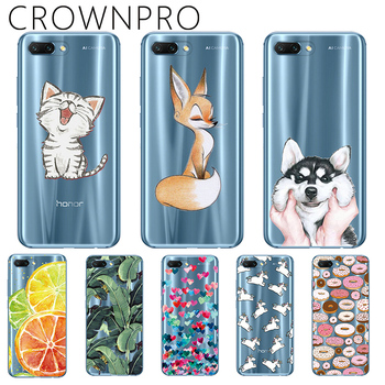 "CROWNPRO Fundas FOR Huawei Honor 10 Cases Silicone TPU Honor10 5.84"" Soft Back Cover Clear FOR Huawei Honor 10 Phone Case TPU"