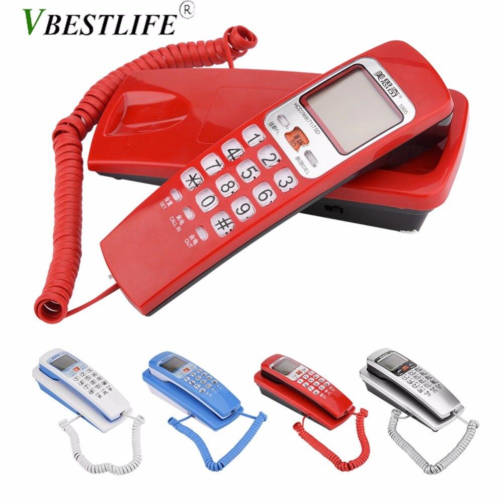 FSK/DTMF Caller ID Telephone Corded Phone Desk Put Landline Fashion Extension Telephone Smart Home