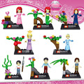 8 UNIDS Castillo Cuentos de Hadas Princesa de Película Figuras Sirena Cenicienta Hadas LegoINGlys Bela Amigos para Chica Bloques de Construcción de Juguetes