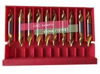 1.0/1.5/2.0/2.5/3.0/4.0/5.0mm 10pcs/set HSS 60 degrees High quality Titanium coating Spiral Groove Center drill