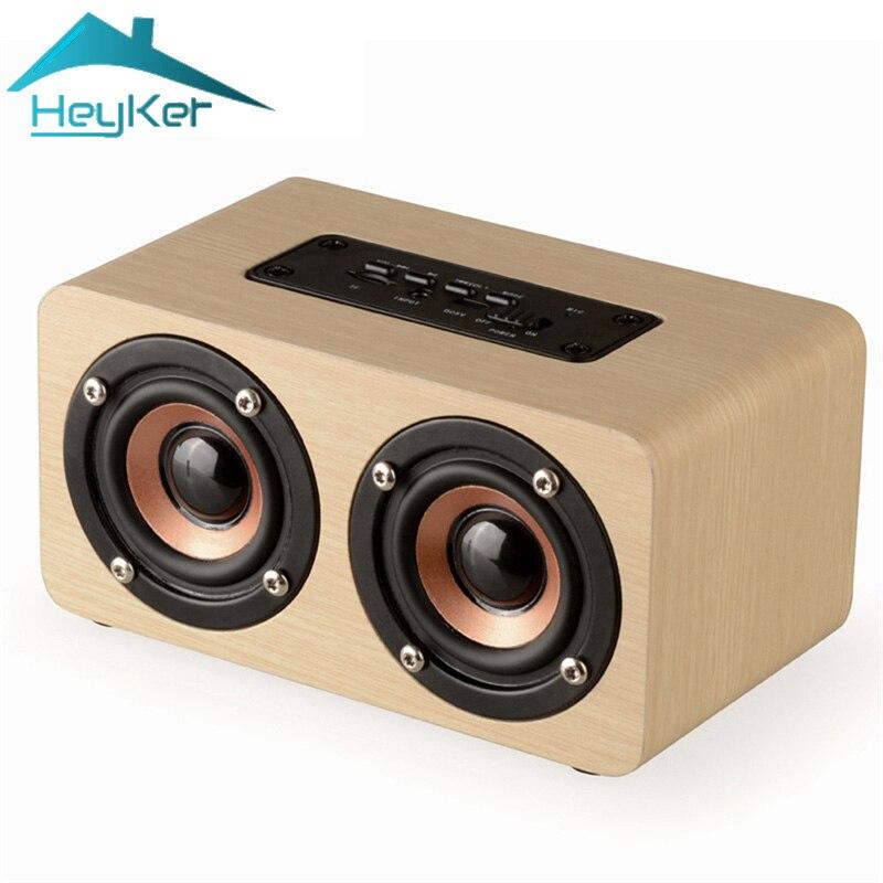 Mini Bluetooth Lautsprecher Tragbare Blutooth 10 watt Bass Drahtlose Soundbar Holz Lautsprecher Subwoofer Unterstützung TF AUX Freisprecheinrichtung Boombox