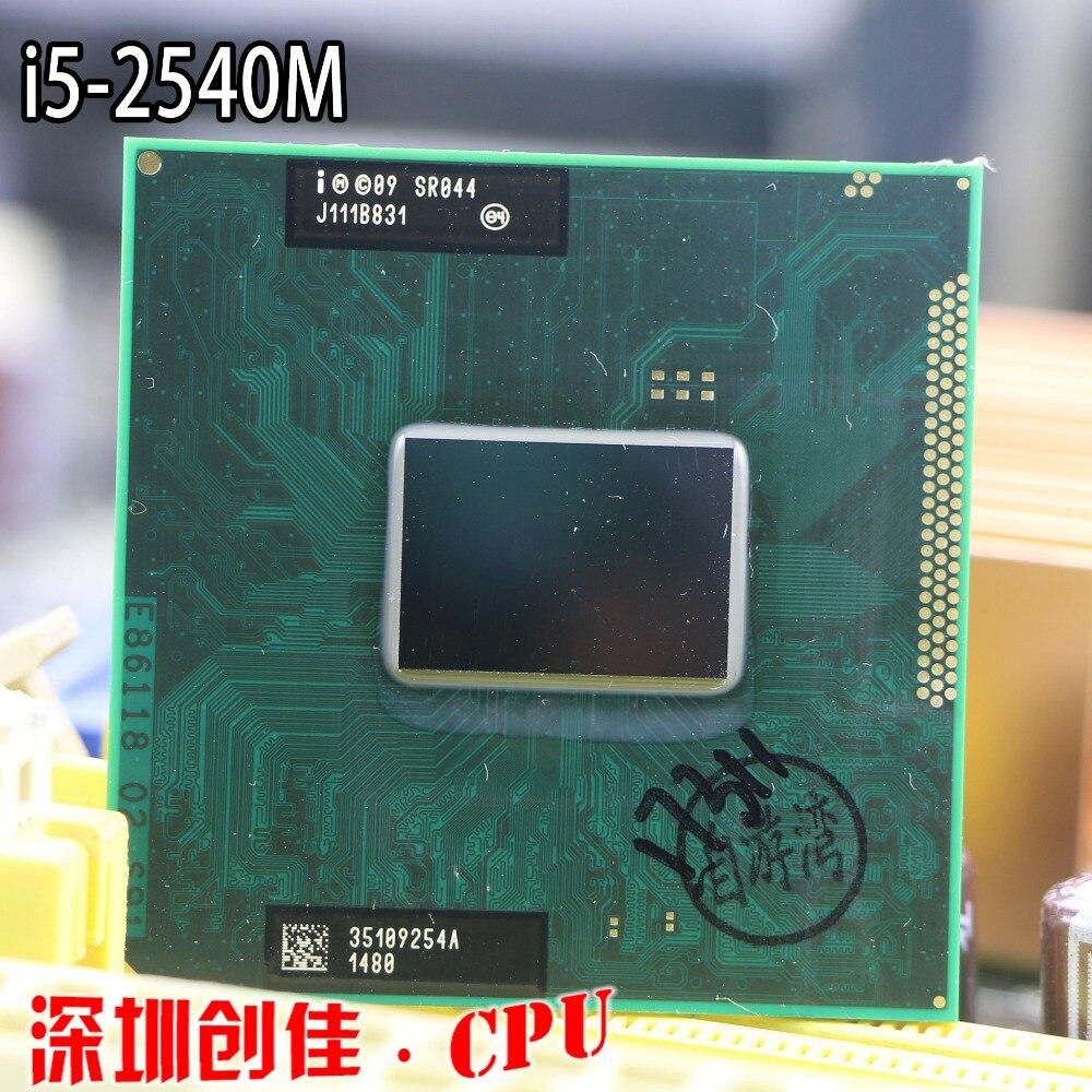 Libero di trasporto originale Intel Core i5 2540 M CPU 3 M 2.6 GHz socket G2 Dual-Core i5-2540m Portatile processore per HM65 HM67 QM67 HM76