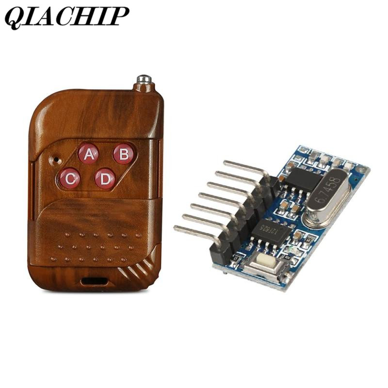 QIACHIP 433Mhz DC 12V 4CH Channel Relay RF Wireless Remote Control Switch Receiver Module and RF Remote 433 Mhz Transmitter DS40 wireless pager system 433 92mhz wireless restaurant table buzzer with monitor and watch receiver 3 display 42 call button