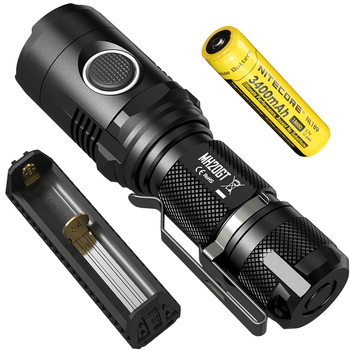 NITECORE MINI Spotlight MH20GT 1000LMs USB Chargeable Torch +F1 Power Bank Charger +18650 Battery Outdoor EDC Lantern Flashlight