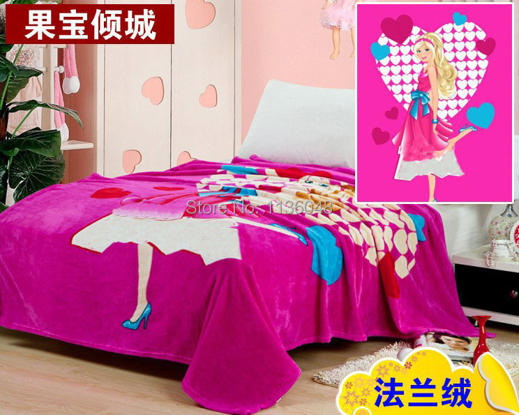 Gratis forsendelse baby tæppe coral fleece flannel tæppe Sengetøj tykkere air-condition plaid tegneserie tæpper