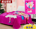 Free shipping  baby blanket  coral fleece flannel blanket Bedding thicken air-condition plaid cartoon blankets