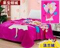 O envio gratuito de bebê cobertor coral cobertor de lã engrossar ar-condicionado cobertor de flanela Cama cobertores dos desenhos animados xadrez