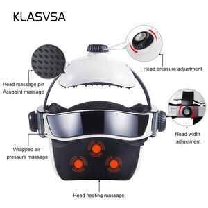 Image 4 - KLASVSA Electric Heating Neck Head Massage Helmet Air Pressure Vibration Therapy Massager Music Muscle Stimulator Health Care