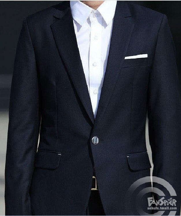 2018 Heißesten Verkauf Die Navy Koreanischen Männer Anzüge Der Trend Der Koreanischen Version Der Anzug Und Geschäfts Schlank Stück So Effektiv Wie Eine Fee