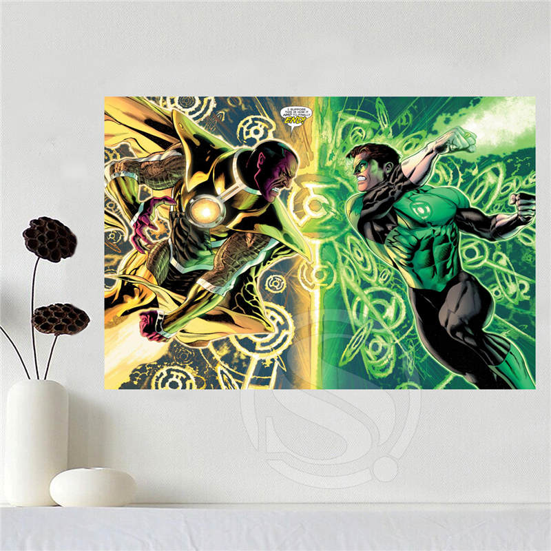 Custom canvas poster Art Green Lantern Home Decoration poster cloth fabric wall poster print Silk Fabric Print SQ0611-in Painting u0026 Calligraphy from Home ... & Custom canvas poster Art Green Lantern Home Decoration poster cloth ...