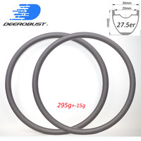 295g 650B 30mm x 30mm 27.5er MTB XC Carbon Rims UD Matte Glossy 24H 28H 32H Cross Country Wheelset Hookless Tubeless Clincher