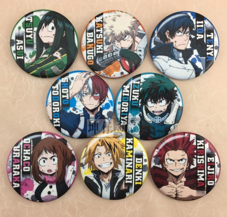 My Hero Academia Anime Boku no Hero Academia Midoriya Bakugo Todoroki Shoto Denki Ejiro Uraraka Ii Rubber Keychain