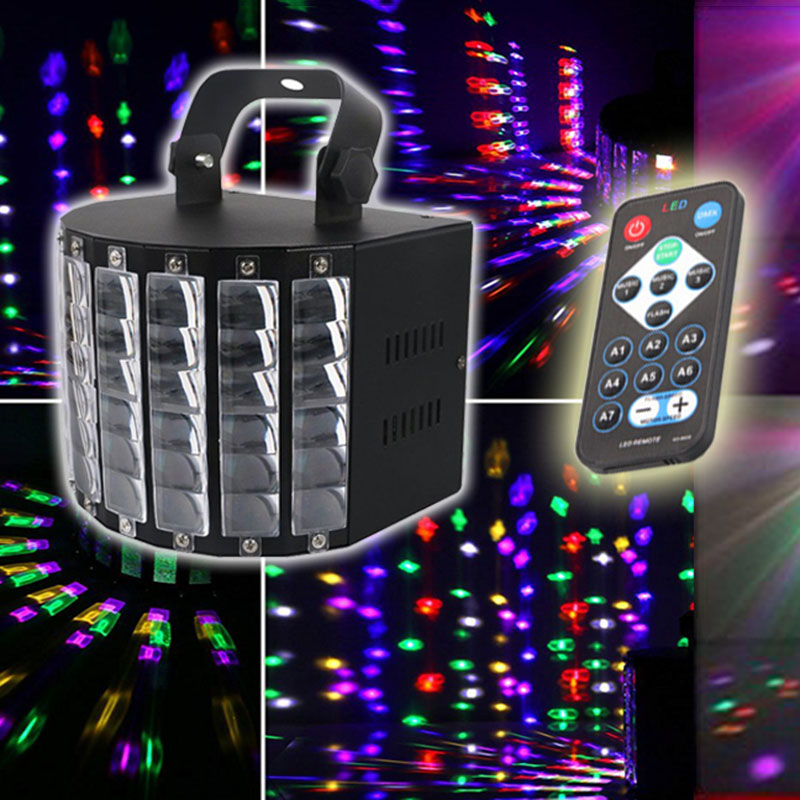 DJ Lights with 27-watts 9LEDs MultiColor Wide Beams by IR Remote and DMX Control for Party Stage Lighting P20 dj control