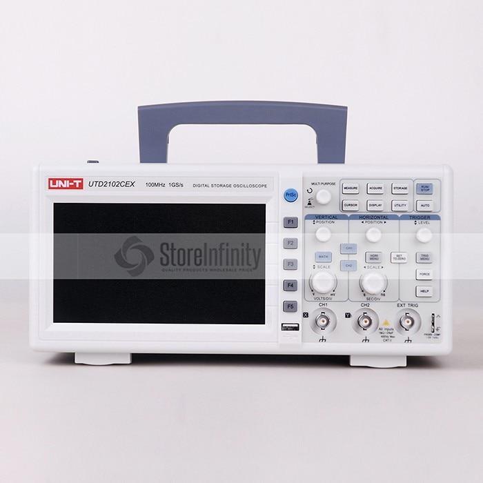 UNI T UTD2102CEX 1GSa Digital Storage Oscilloscope 7 LCD 800 480 100MHz 2Channels USB OTG interface