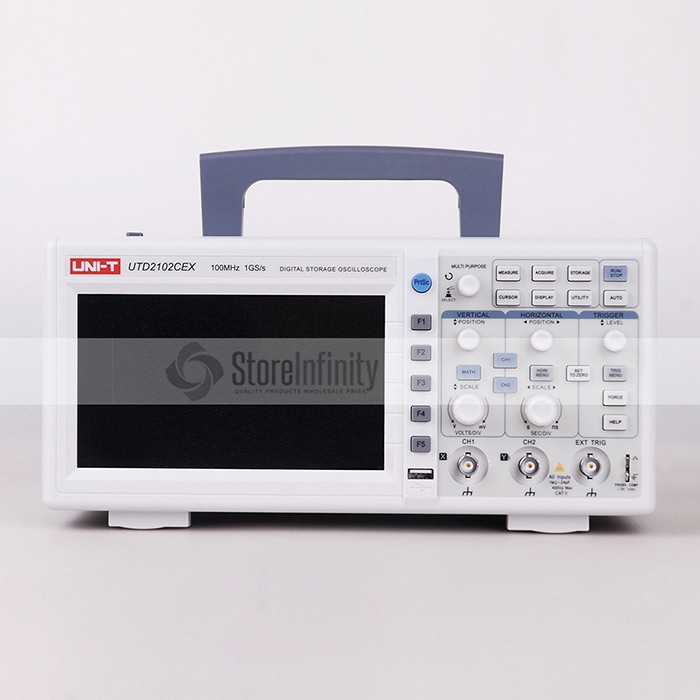 UNI-T UTD2102CEX 1GSa Digital Storage Oscilloscope 7 LCD 800*480 100MHz 2Channels USB OTG interface uni t utd2102cex digital oscilloscope 100mhz bandwidth with usb otg interface 2 channels storage portable oscilloscope