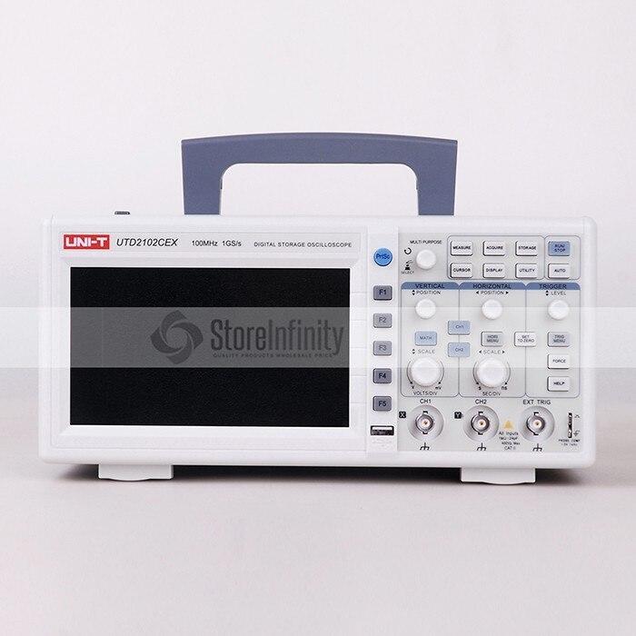 UNI-T UTD2102CEX 1GSa Digital Storage Oscilloscope 7 LCD 800*480 100 mhz 2 Canaux USB OTG interface