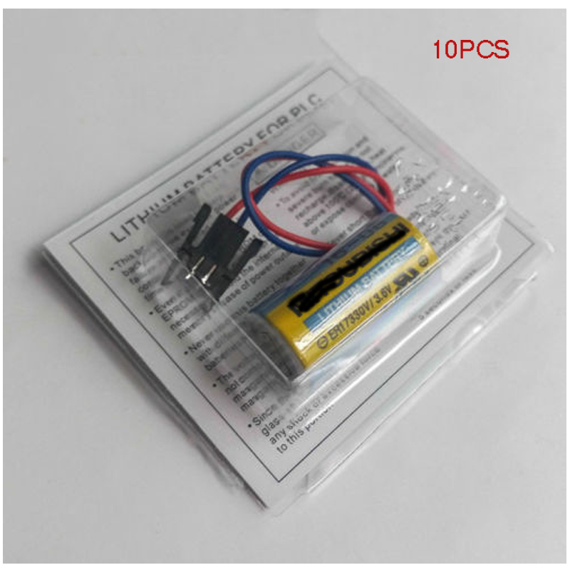 10x Plc Batterie A6bat Er17330v Größe 2/3a 3,6 V Li-ion Akku Unterhaltungselektronik Videospiele Stecker Für Mitsubishi Plc Batterie