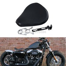 Motorcycle    Spring Mounted Solo Seat  For Harley Sportster Bobber Chopper Customs