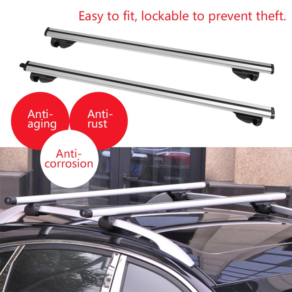 Durable Lockable Anti Theft Cars Auto Vehicles Roof Bars For Cars With Rails Rack Separate Luggage Rack