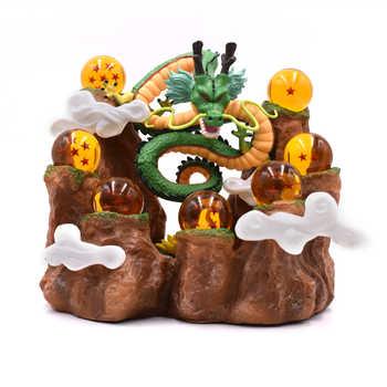 La bola Del dragón Del Anime Z dragón Shenron montaña de acción | PVC figuras de acción de Dragon Ball Z juguetes de modelos coleccionables DBZ Esferas Del Dragón de juguete