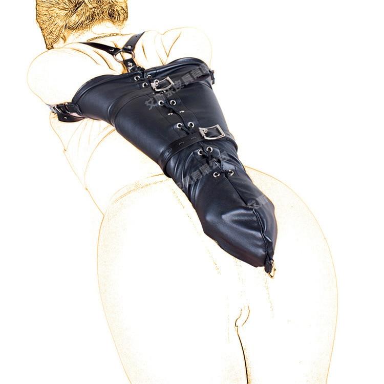 New Sexy PU Leather Over Shoulder Arm Binder Bondage Slave Fetish One Armbinder Glove BDSM Adult Bondage Kit Restraints Sex Toy polaris x over glove