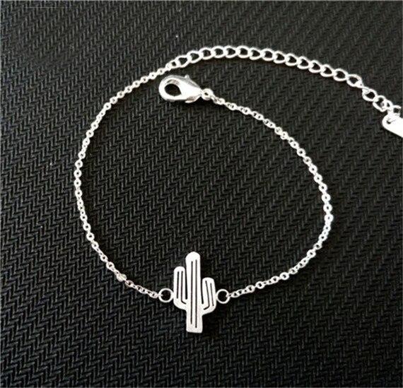 Bransoletka minimalistyczna kaktus