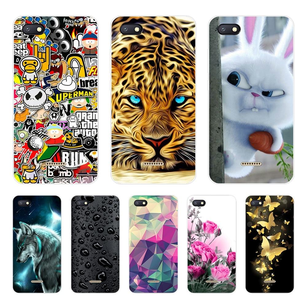 Silicone Cover For Xiaomi Redmi 6A Case 5.45' Printing Pattern Cute Phone Cases For Xiomi Redmi6 Redmi 6 A Redmi6A Fundas Coque