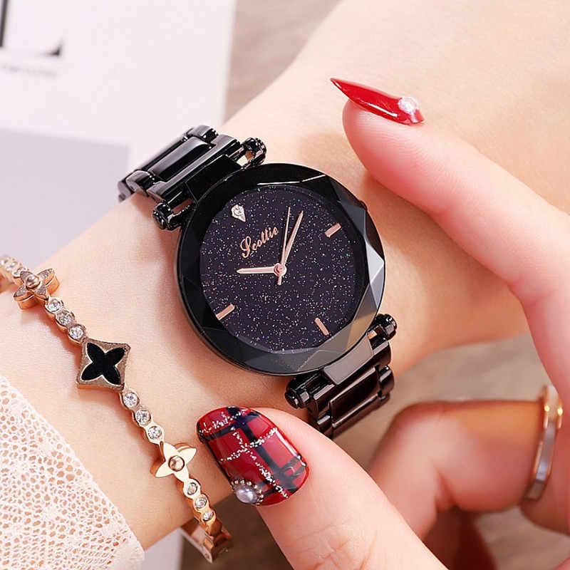 Relojes de lujo para mujer, nuevo vestido de diamantes, reloj de cuarzo, reloj elegante para mujer con esfera estrellada, reloj femenino, montre para mujer