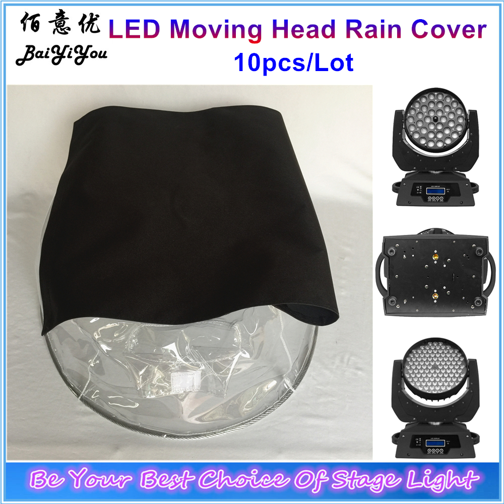 10x Rain Snow Umbrella Coat For LED Moving Head Wash Beam Light Rain Cover With Transparent
