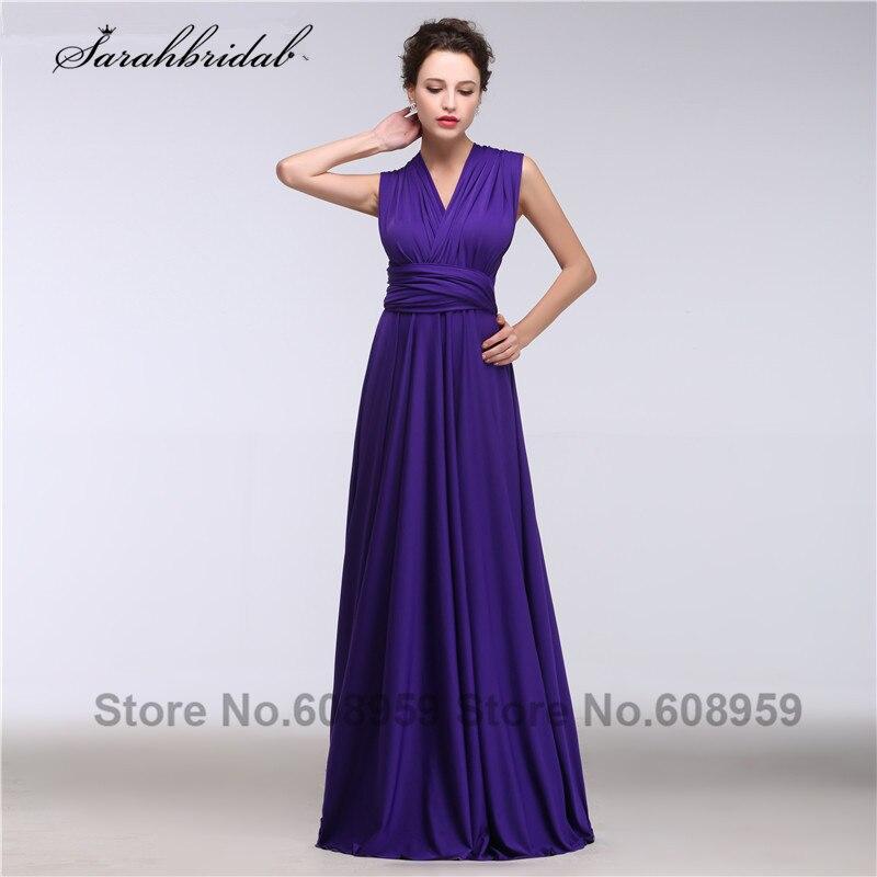 Online Shop Multipurpose Purple Bridesmaid Dresses 2017 Pleated ...