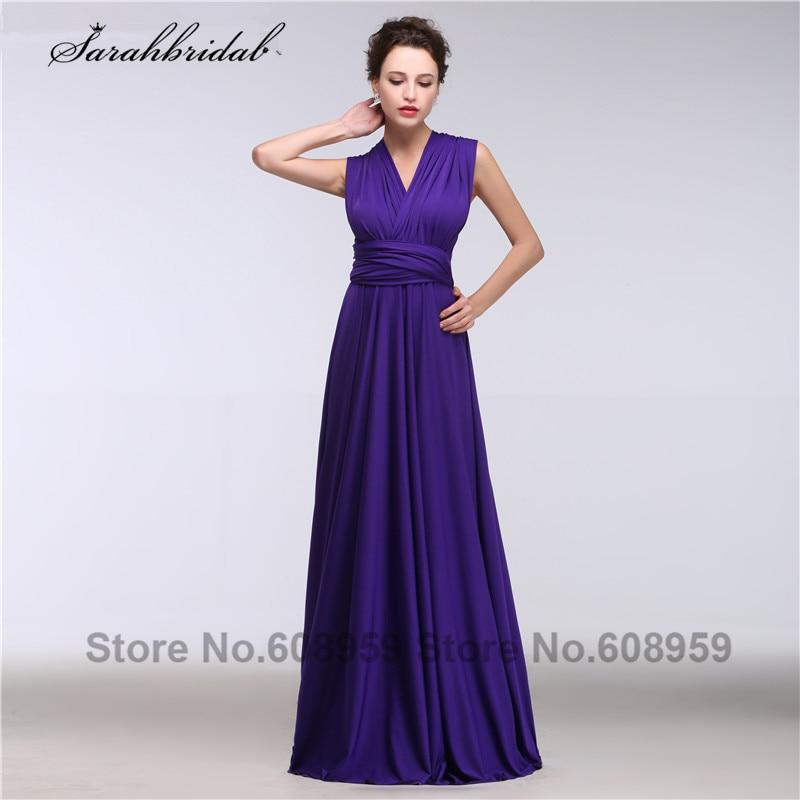 Multipurpose Purple   Bridesmaid     Dresses   Pleated Chiffon Long Formal   Dress   Wedding Occasion Vestido De Festa GT068