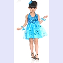 Child dance clothes child dance wear child costume performance costume female paillette tulle dress