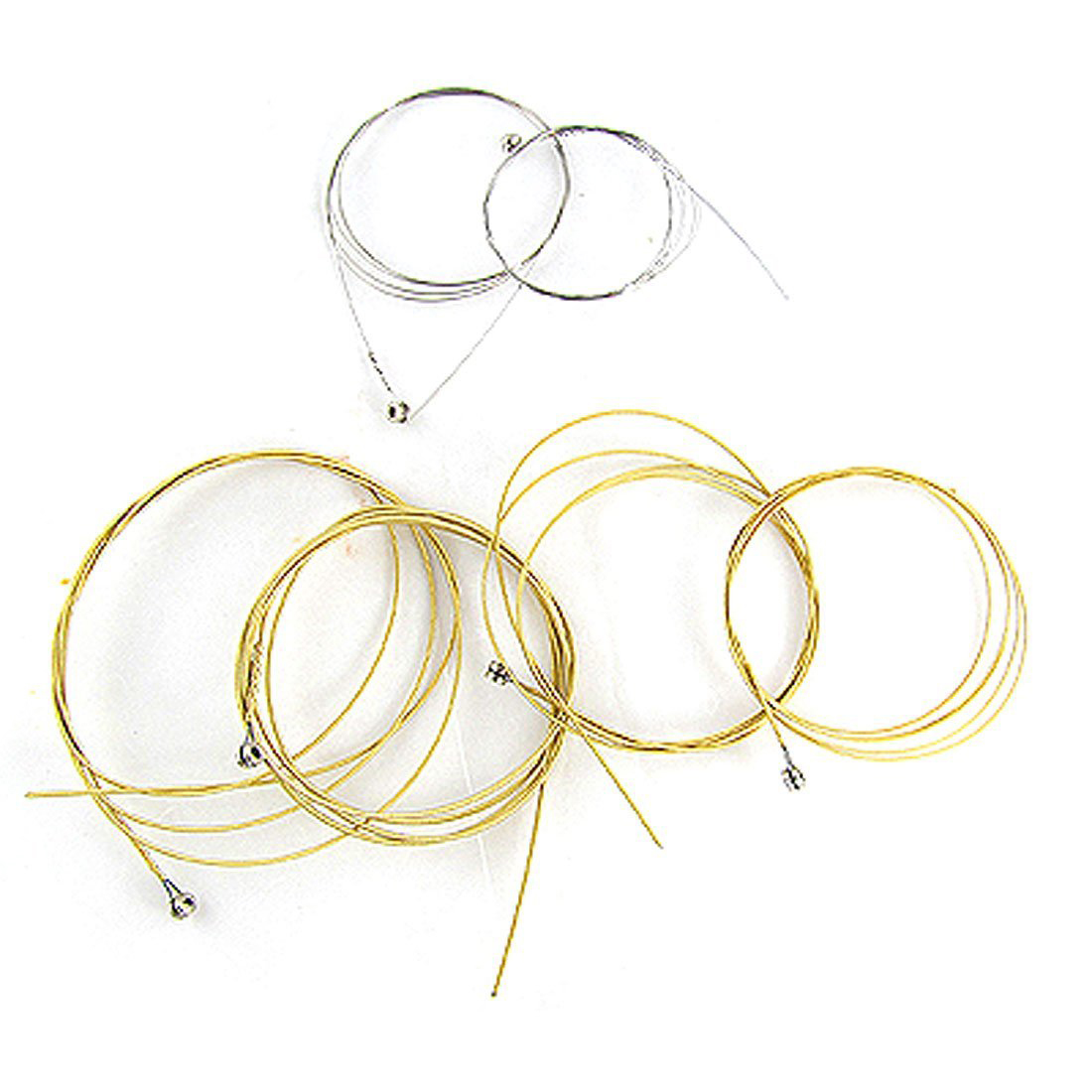 2pcs of6 Pcs Steel Strings Replacement for Acoustic Guitar New Silver+Brass