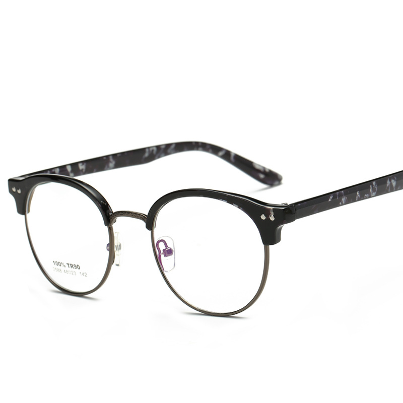 7592fc73e3 Women Man Grade Glass Frame Of Spectacles Frame With Clear Lens Round  Full-Rim jy2588