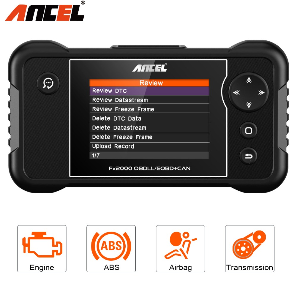 OBD2 Automotive Scanner Ancel FX2000 ODB Diagnostic Tool for Eng/ABS/SRS/AT Code