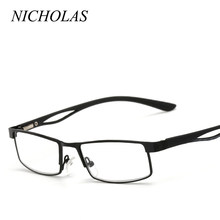 4e5f765579 NICHOLAS Square Reading Glasses Men Women Metal Comfortable Hyperopia  glasses Diopter glasses old men women Presbyopic Eyewear