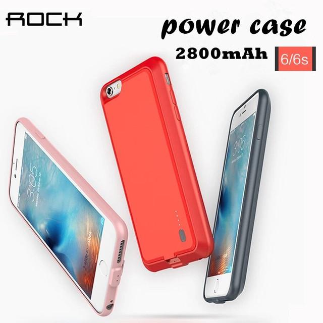 Caso casos de Telefone 2000 mAh Banco de Potência Bateria Externa de Backup carregador case para iphone 6 6 s 6 plus 6 splus caso poder cobrir