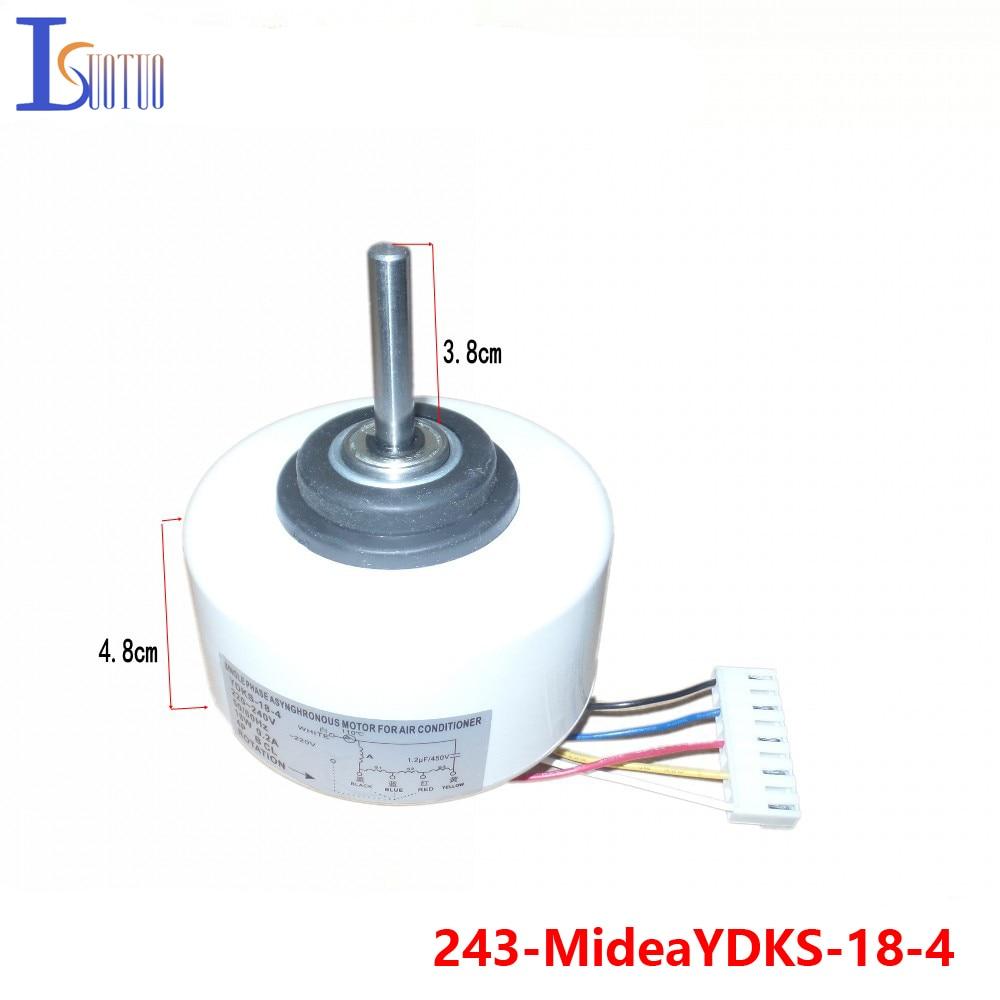Midea air conditioner indoor fan motor ydks 18 4 plastic for Air conditioner motor cost