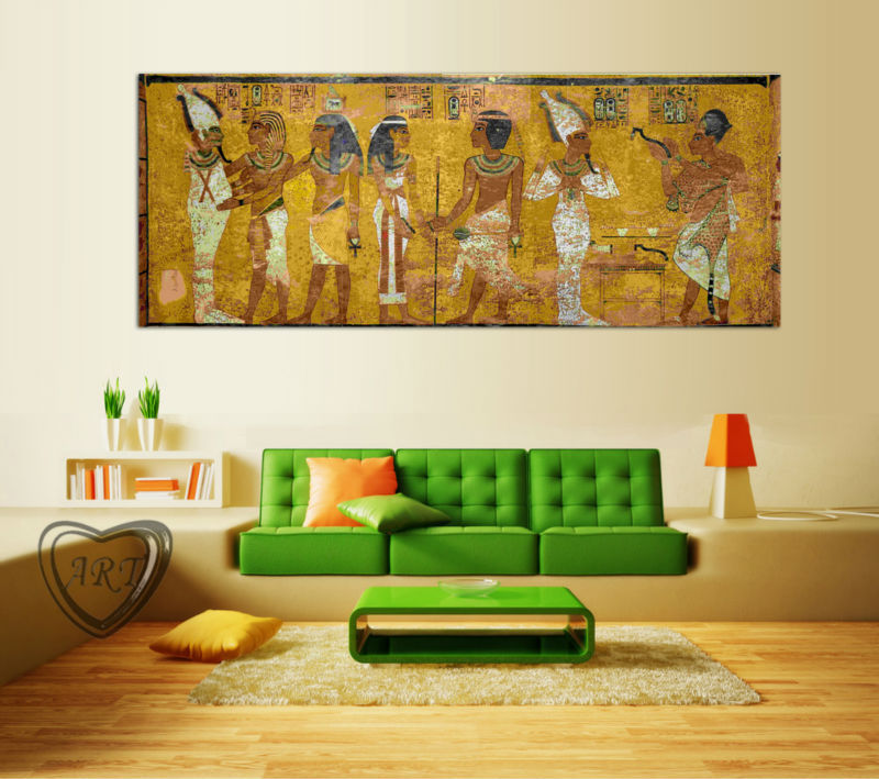 Egyptian Decor Canvas Painting Oil Painting Wall Pictures For Living Room  Wall Decor Large Canvas Art No Framed GA1033 In Painting U0026 Calligraphy From  Home ...